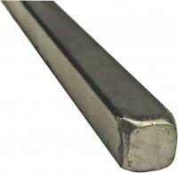 "3/8"" Square Steel Bar. Hot Rolled A36 Material. 20"" Length"