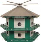 TM12 - Purple Martin Mini Castle With 14' Pole (USA Made)