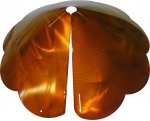 SB8SEC - Cone Scalloped Edge Squirrel Baffle Copper Tint - USA