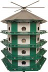 PMC24 - Purple Martin Castle Complete W/ 14' Pole (Made In USA)