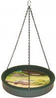 BA3G - Bird Bath Hanging - GREEN - USA