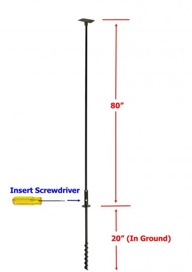FP5TWX - 5 Piece Feeder Pole Set w/Twister and SB1D Baffle - Click Image to Close