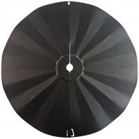 SB6 - Pole Mount Disk Squirrel Baffle - Black - USA