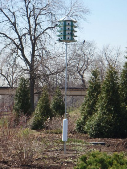 PMC24 - Purple Martin Castle Complete W/ 14' Pole (Made In USA) - Click Image to Close