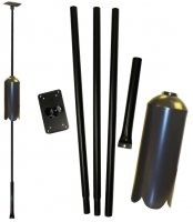 FP5SWX 5 Piece Bird Feeder Pole Set/Ground Sleeve + SB1D Baffle