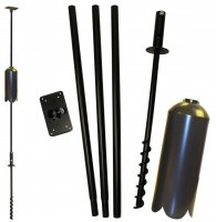 FP5TWX - 5 Piece Feeder Pole Set w/Twister and SB1D Baffle