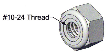 40525 - 10-24 Nylon Insert Nut - Click Image to Close